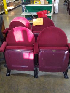 Stadium Chairs – Unique item with lots of potential – multiple sizes available - $10/seat.