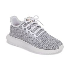 Women's Adidas Tubular Shadow Sneaker ($110) ❤ liked on Polyvore featuring shoes, sneakers, light grey, print sneakers, adidas footwear, adidas sneakers, light weight shoes and adidas shoes