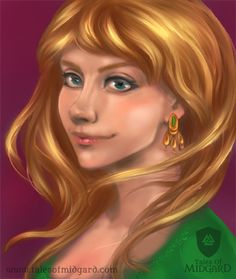 A Portrait of Thalia from our first webcomic: She Who Killed The Immortal King.