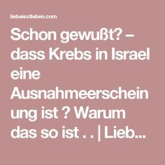 Schon gewußt? – dass Krebs in Israel eine Ausnahmeerscheinung ist ? Warum das so ist . . | Liebe – Isst – Leben Health Facts, Health Diet, Health And Nutrition, Fitness Tips For Men, Health And Fitness Tips, Loose Weight Diet, Belleza Diy, Cancer Fighter, Alternative Health