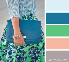 NEUTRALS: Gray, Beige || ACCENTS: Light Blue, Medium Blue, Green