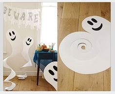 I think it would be cool to do something like this ...Ward party decor ideas Ghosts