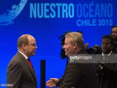 Prince Albert II of Monaco attends the 'Our Ocean' meeting in Vina del Mar, Chile, October 5, 2015. Chilean President Michelle Bachelet opened an international conference on the protection of the...