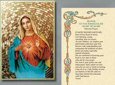 Prayer to Immaculate Heart of Mary