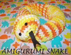 amigurumi snake crochet tutorial