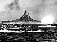"""Battleships provide protective fire for Marine landings    Col. Yahara summarized the overall Japanese military strategy and philosophy of the Japanese defenders on Okinawa as the jikyusen, war of attrition, thusly:   """"Japan was frantically preparing for a final decisive battle on the home islands, leaving Okinawa to face a totally hopeless situation. From the beginning I had insisted that our proper strategy was to hold the enemy as long as possible, drain off his troops and supplies, and…"""
