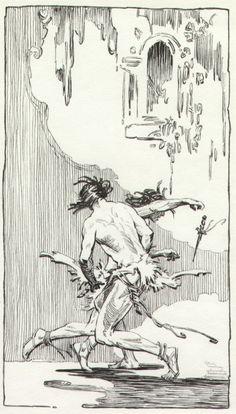 Close up Tarzan by Roy Krenkel Comic Art