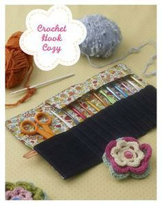 from Sew Darn Cute Crochet Hook Case, Crochet Hooks, Sewing Patterns Free, Sewing Tutorials, Fabric Crafts, Sewing Crafts, Felt Pouch, Couture Sewing, Darning