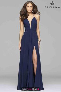 Faviana Corset Lace Up Dress 7747