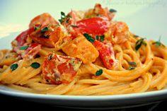 ♥ Máma v kuchyni ♥: Špagety s omáčkou z pečené dýně (od 1 roku)
