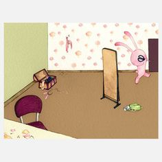 Artist Print: Bunny Getting Away With Murder, $19, now featured on Fab.