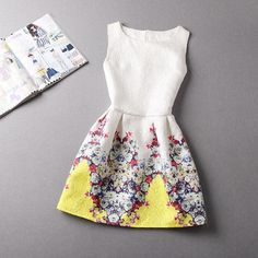 Gender: Women Waistline: Natural Brand Name: jiachenzt Fabric Type: Dobby Season: Summer Dresses Length: Knee-Length Silhouette: A-Line Neckline: O-Neck Color Style: Natural Color Sleeve Length: Sl…