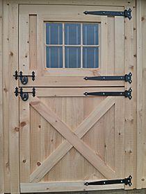 www.keystonebarns.com has the least expensive wood dutch exterior door I can find. Wooden 4x7 Dutch Door with Window