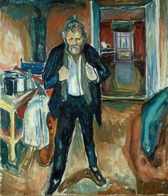 As an Old Man Self Portrait by Symbolist Artist Edvard Munch Counted Cross Stitch or Counted Needlepoint Pattern Amedeo Modigliani, Henri Matisse, Harlem Renaissance, Edward Munch, List Of Paintings, Oil Paintings, Art Brut, Paul Cezanne, Art Moderne