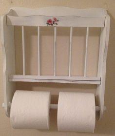 Shabby chic bathroom toilet paper holder.  by SistersShabbyCloset, $20.00