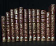 Reliures d'une série de dessins de Charles Plumier réalisées par la Bibliothèque impériale ; aujourd'hui conservés à la Bibliothèque centrale du Muséum (Ms 19 à 31).