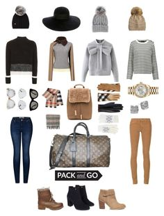 """""""Mix and Match Neutrals. #PackandGo"""" by donirachua on Polyvore featuring Topshop, Carven, WithChic, Maje, 2LUV, AG Adriano Goldschmied, Louis Vuitton, Steve Madden, Sole Society and Burberry"""