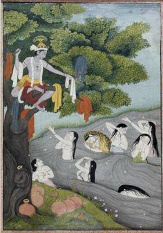 Krishna Taunting the Gopi, 1775-1800, pigments on paper, India (Garhwal, Uttar Pradesh), Baltimore, The Walters Art Museum