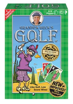 Grandpa BeckS Golf Card Game A Fun Family-Friendly Strategy Game Enjoyed By Kids, Teens And Adults From The Creators Of Cover Your Assets Tab Family Card Games, Fun Card Games, Playing Card Games, Tabs Game, Golf Card Game, Classic Card Games, Educational Board Games, Golf Theme, Fun Illustration