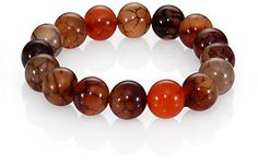 Nest Agate Beaded Stretch Bracelet on shopstyle.com