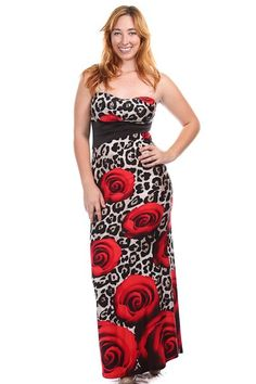 Plus Size Leopard & Rose Print Strapless Maxi Dress Availability: In stock.  $45.95 - See more at: http://www.pinkclubwear.com/plus-size-leopard-rose-print-strapless-maxi-dress.html#sthash.LkXNepXi.dpuf