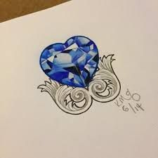 3d diamond sapphire tattoo what do you think tattoo s pinterest diamonds do you and. Black Bedroom Furniture Sets. Home Design Ideas