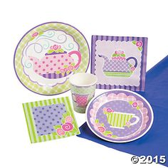Tea Party Pack, Tableware Sets, Party Tableware, Party Supplies - Oriental Trading