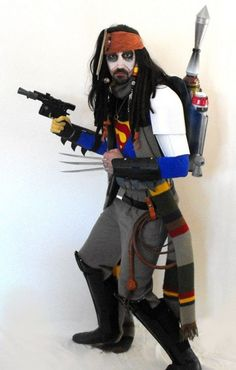 """Halloween weirdness: """"Guy Dressed Up As Like A Million Characters At Once"""""""