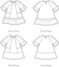 carousel dress sewing pattern - the new Oliver + S pattern