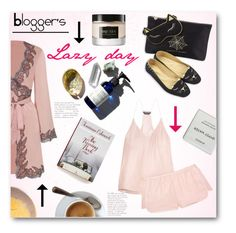 """""""Blogger's lazy day"""" by norairh ❤ liked on Polyvore featuring Three J NYC, Agent Provocateur, Charlotte Olympia, Byredo and Alexander McQueen"""