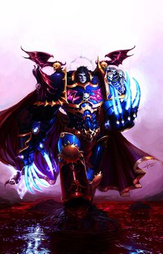 The VIII Primarch by saint-max on deviantART Konard Curze, the Night Haunter the Primarch of The Night Lords Space Marine Chapter Warhammer 40k Art, Warhammer Fantasy, Warhammer Models, Space Marine, Night Lords, St Max, Samurai, Sci Fi Art, Cool Artwork