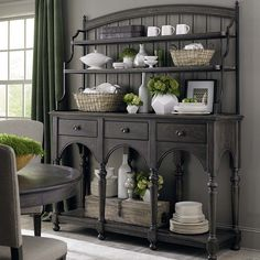 Sideboard with Hutch by Bassett Furniture