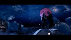 """Your Song"" sequence from Moulin Rouge (2001) - referenced for sky, moon, umbrella"