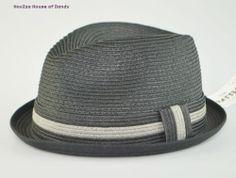 Mens Summer Straw Fedora Cuban Style Upturn Short Brim Hat M L L XL avl Black | eBay