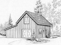 StableWise Gallery - Pilchuck horse barn illustration