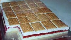 Meggyes kekszes szelet - igazi különlegesség! - Egy az Egyben Easy Desserts, Sweet Recipes, Tiramisu, Cheesecake, Food And Drink, Meals, Cookies, Coffee, Ethnic Recipes