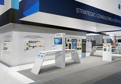 Stratasys 2015 - Blickfang Messebau GmbH Exhibition Stall, Exhibition Stand Design, Exhibition Display, Hanging Banner, Banner Stands, Booth Design, Trade Show, Museums, House