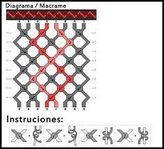 patrones de pulseras macrame - Buscar con Google