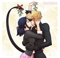 Marichat kiss~ (Miraculous Ladybug, Marinette, Chat Noir)