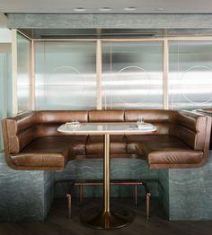 Highline Restaurant, Bar & Lounge, designed by Red Design, published on Architectural Digest (China) April 2017 issue. Lounge Design, Bar Lounge, Design Café, Bar Interior Design, Restaurant Interior Design, Dining Room Design, Home Interior, Outdoor Dining Furniture, Lounge Furniture