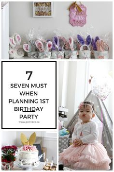 Planning a Bunny Theme 1st Birthday Party