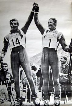 Jean-Claude Killy et Guy Périllat, champions olympiques Grenoble 1968