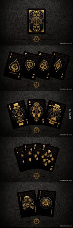 Beautiful and Deadly Playing Cards: Muertos by Steve Minty