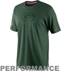Nike Green Bay Packers Breast Cancer Awareness Legend Performance T-Shirt -  Green b67fccf86d4d