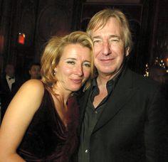Alan Rickman and Emma Thompson. 'Love Actually' premiere, Nov 06th 2003, NY