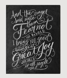 Luke 2:9 Scripture - Print