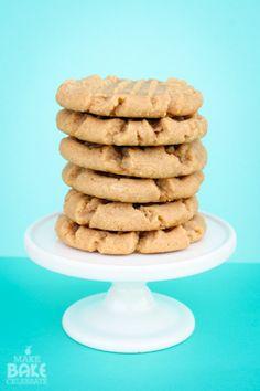4 Ingredient Peanut Butter Cookies!