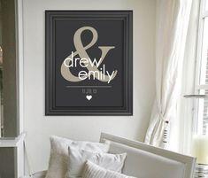 custom wedding present personalized keepsake gift for couple art print gift for newlyweds - Christmas Gifts For Newlyweds