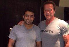 Suriya meets Arnold Schwarzenegger!