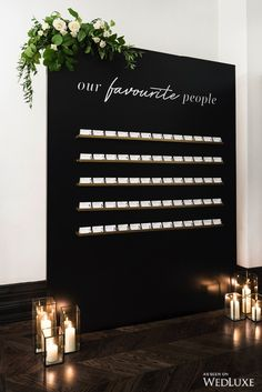 Black and white wedding ideas, white wedding ideas, black seating chart, black and white seating charts WedLuxe – Noir et Blanc: A Styled Shoot Turned Real Wedding Wedding Trends, Wedding Tips, Wedding Day, Luxury Wedding, Wedding Photos, Party Wedding, Spring Wedding, Wedding Order, Star Wedding